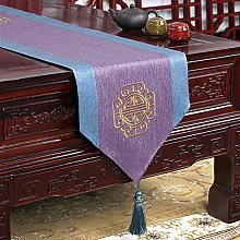 XCSLH Table Runners,Chinese Style Purple Cotton