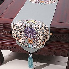 XCSLH Table Runners,Cyan Vintage Chinese Style