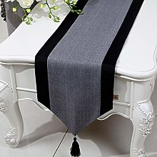 XCSLH Table Runners,Gray Chinese Style Cotton