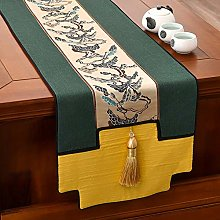 XCSLH Table Runners,Green Chinese Style Pinus