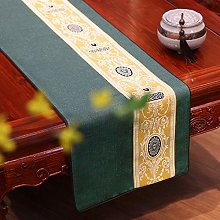 XCSLH Table Runners,Green Chinese Style Vintage
