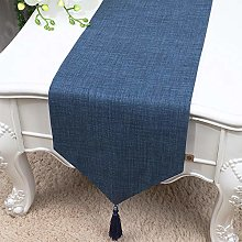 XCSLH Table Runners,Modern Simple Blue Cotton And