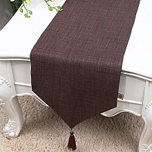 XCSLH Table Runners,Modern Simple Brown Cotton And