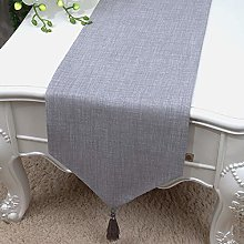 XCSLH Table Runners,Modern Simple Gray Cotton And