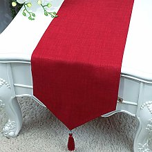 XCSLH Table Runners,Modern Simple Red Cotton And