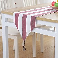 XCSLH Table Runners Modern Simple Red Stripes