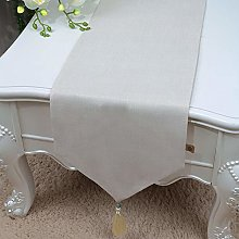 XCSLH Table Runners,Modern Simple White Cotton And