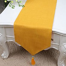 XCSLH Table Runners,Modern Simple Yellow Cotton