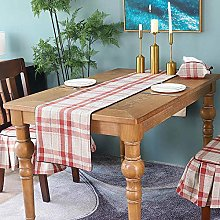 XCSLH Table Runners,Modern Us Style Red Checkered