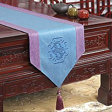 XCSLH Table Runners,Purple Blue Chinese Style Pink
