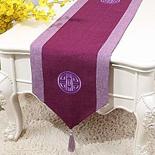 XCSLH Table Runners,Purple Chinese Style Cotton