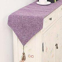 XCSLH Table Runners Purple,Modern Simple Cotton