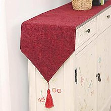 XCSLH Table Runners Red,Modern Simple Cotton Linen