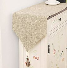 XCSLH Table Runners Rice Gray,Modern Simple Cotton