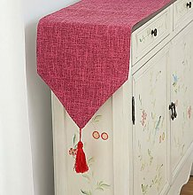 XCSLH Table Runners Rose Red,Modern Simple Cotton