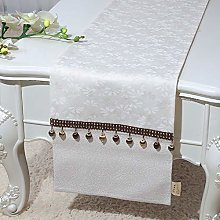 XCSLH Table Runners,Vintage Classic Beige Cotton