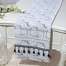 XCSLH Table Runners,Vintage Classic Blue White