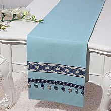 XCSLH Table Runners,Vintage Classic Cyan Cotton
