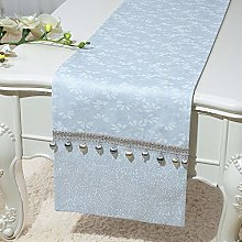 XCSLH Table Runners,Vintage Classic Light Blue