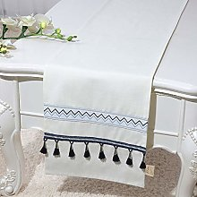 XCSLH Table Runners,Vintage Classic White Cotton