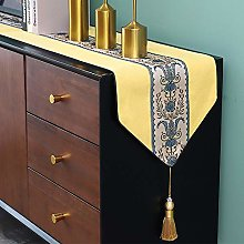XCSLH Table Runners,Yellow Chinese Style Vintage