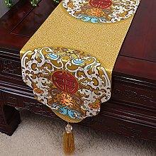 XCSLH Table Runners,Yellow Vintage Chinese Style
