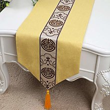 XCSLH Table Runners,Yellow Vintage Cotton Linen
