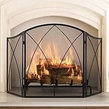 XCTLZG 3 Panelled Iron Fire Place Protector for