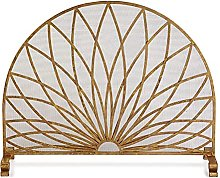 XCTLZG Half-round Shaped Hearth Screen for Sparks
