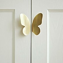 XCXDX Brass Butterfly Cabinet Knob Punch-free