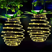 XCZWG Pineapple Solar Lights String Outdoor