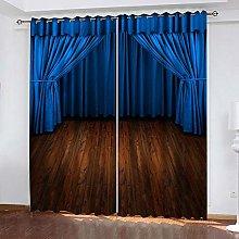 xczxc Blackout Curtain kids Blue stage 100%