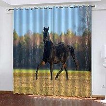 xczxc Blackout Curtain kids Dark horse 100%