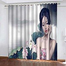 xczxc Blackout Curtain kids Lotus beauty 100%