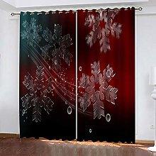 xczxc Blackout Curtain kids Red snowflake 100%