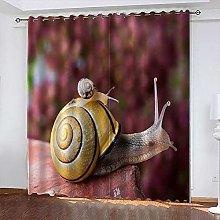 xczxc Blackout Curtain kids snails 100% Polyester