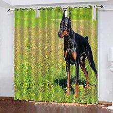 xczxc Kids Blackout Curtains Black dog Thermal