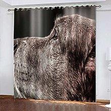 xczxc Kids Blackout Curtains Grey dog Thermal