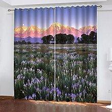xczxc Kids Blackout Curtains purple flower Thermal