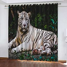 xczxc Kids Blackout Curtains White tiger Thermal