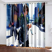 XDJQZX Curtains For Bedroom Eyelet 3D