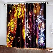 XDJQZX Curtains For Bedroom Eyelet 3D Cartoon Boy