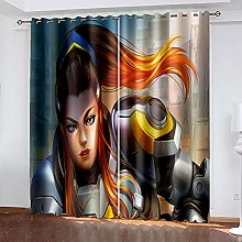 XDJQZX Curtains For Bedroom Eyelet 3D Creative