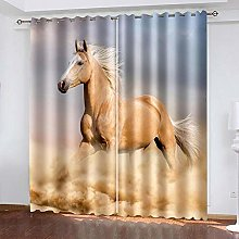 XDJQZX Curtains For Bedroom Eyelet 3D Fashion Art