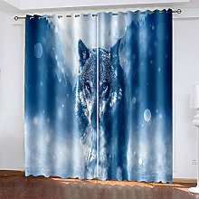 XDJQZX Curtains For Living Room Eyelet 104X95 Inch
