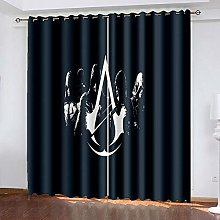 XDJQZX Curtains For Living Room Eyelet 59X65 Inch