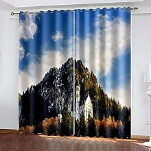 XDJQZX Curtains For Living Room Eyelet 92X91 Inch