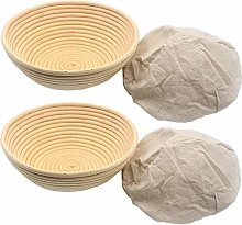 XDLEX 2 Pcs 8.5 Inch Bread Banneton Proofing