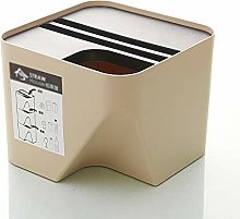 XDYNJYNL Space-Saving Trash Can 8L Stackable