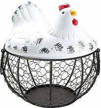 XeinGanpre MT04 Metal Wire Fruit Basket, Iron Egg
